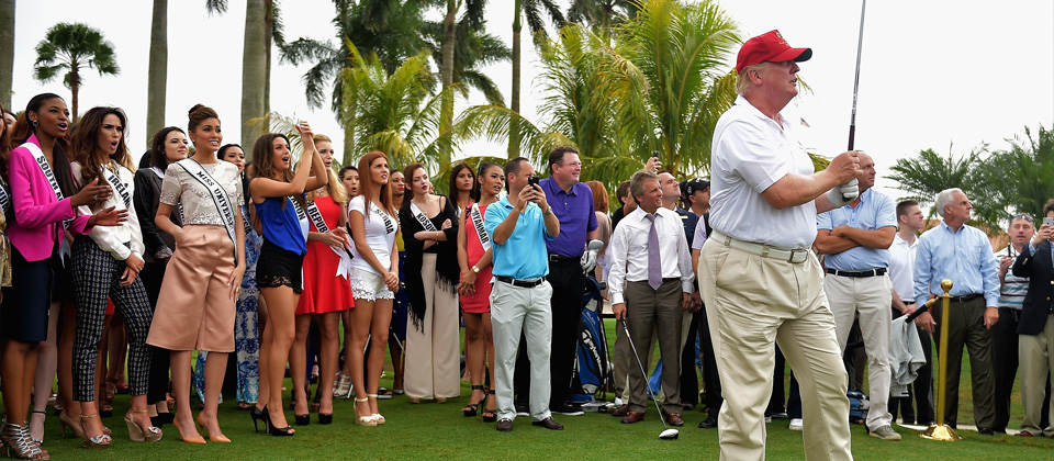 Donald trump at trump national doral in miami for Zuma miami terrace